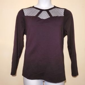 Lane Bryant Laced Neckline Long-Sleeved Top 14/16